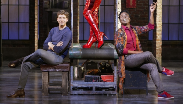 Stark Sands and Billy Porter at First Look at Annaleigh Ashford, Billy Porter and Stark Sands in KINKY BOOTS