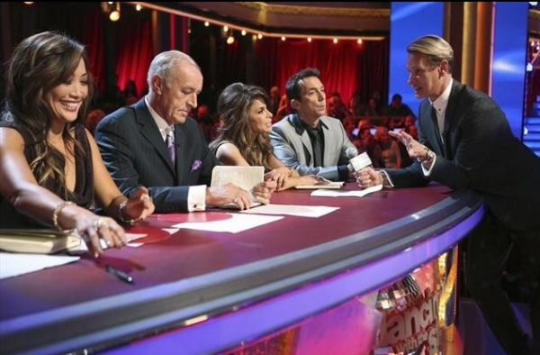 CARRIE ANN INABA, LEN GOODMAN, PAULA ABDUL, BRUNO TONIOLI ,CARSON KRESSLEY at Behind-the-Scenes of ABC's DWTS: ALL STARS