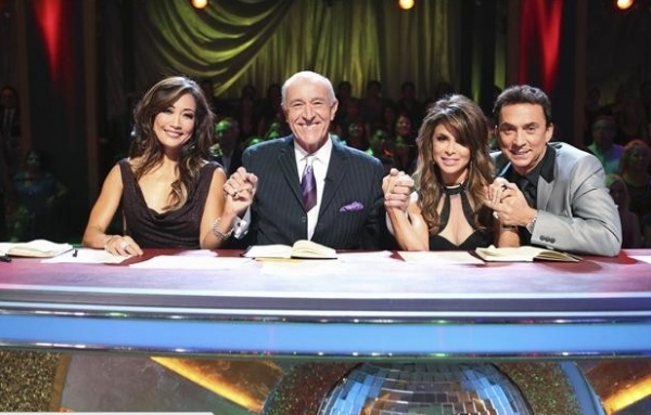 CARRIE ANN INABA, LEN GOODMAN, PAULA ABDUL, BRUNO TONIOLI  at Behind-the-Scenes of ABC's DWTS: ALL STARS