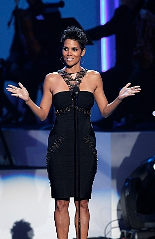 Halle Berry at  First Look - CBS's WE WILL ALWAYS LOVE YOU: A GRAMMY® SALUTE TO WHITNEY HOUSTON