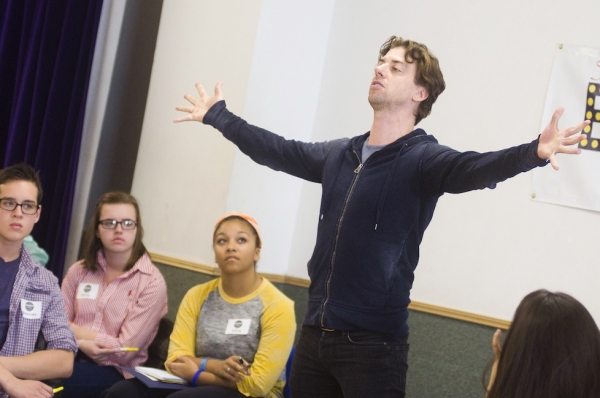 Photo Flash: Christian Borle Teaches Musical Theatre Master Class at Broadway Workshop