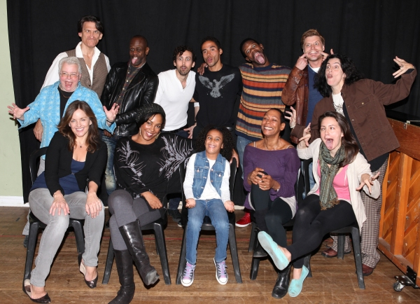The Company Having Fun -  Front Row: Alice Ripley, De'adre Aziza, Sumaya Bouhbal, Karen Kandel, Rachel Spencer Hewitt  Back Row: playwright Paula Vogel, Bob Stillman, K. Todd Freeman, Chris Henry, Jonathan-David,Antwayn Hopper, Sean Allan Krill