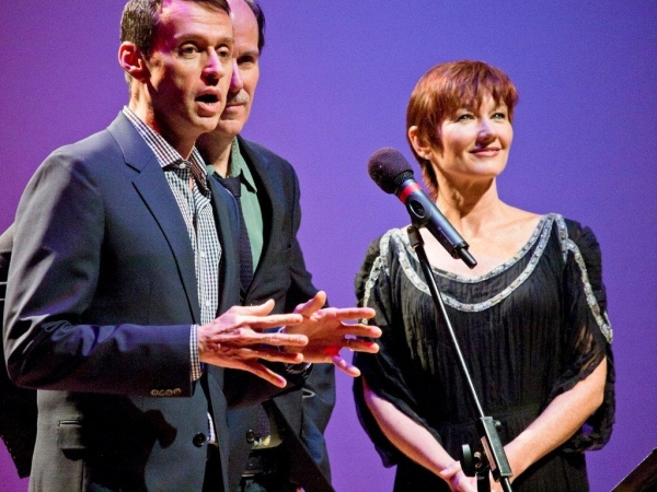 Andrew Lippa, Craig Carnelia, and Lari White at Inside Johnny Mercer Foundation's CELEBRATE!  BROADWAY CLOSE UP SERIES