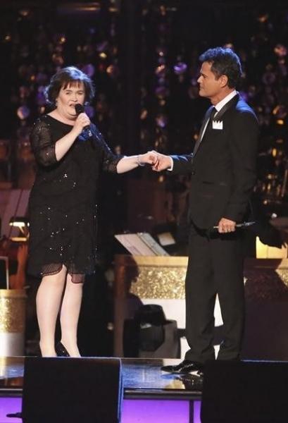 Susan Boyle,Donny Osmond at Donny Osmond, Susan Boyle Perform on DWTS