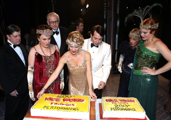 Matt McGrath,  Judy Kaye, Terry Beaver, Kelli O'Hara, Matthew Broderick, Estelle Parsons and Jennifer Laura Thompson