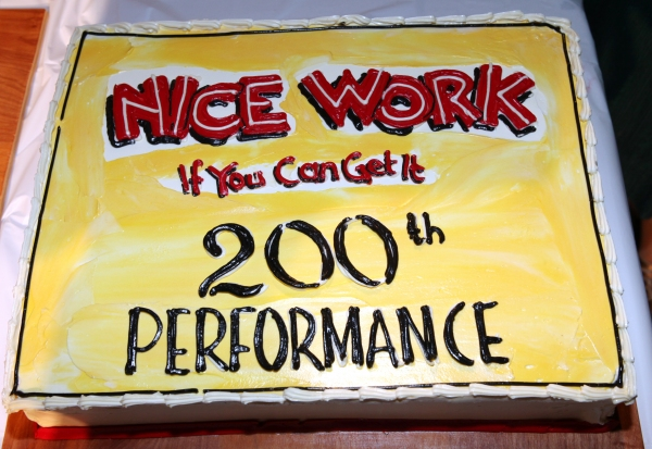Photo Coverage: NICE WORK IF YOU CAN GET IT Celebrates 200th Performance