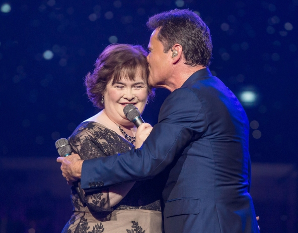 Susan Boyle, Donny Osmond at Susan Boyle Performs at Donny & Marie's Las Vegas Show