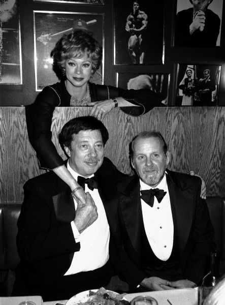 Cy Coleman with Bob Fosse and Juliet Prowse Attending a Theatre Benefit party in New York City. November 1981 © Walter McBride / Retna Ltd.