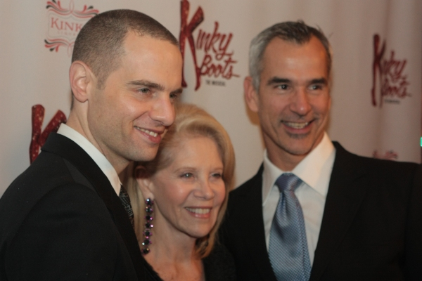 Jordan Roth, Daryl Roth and Jerry Mitchell at First Look at Opening Night of Chicago's KINKY BOOTS