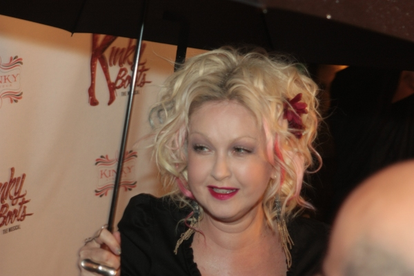 Cyndi Lauper at First Look at Opening Night of Chicago's KINKY BOOTS