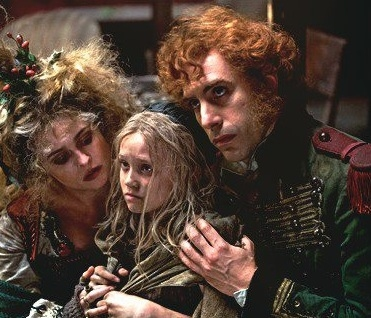 Helena Bonham Carter, Isabelle Allen, Sacha Baron Cohen at First Look at The Thenardiers From LES MIS