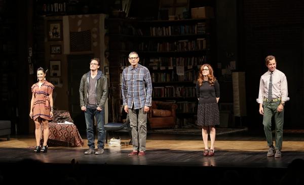 From left, cast members Jennifer Ikeda, Greg Keller, Jeff Goldblum, Aya Cash and Luca Photo
