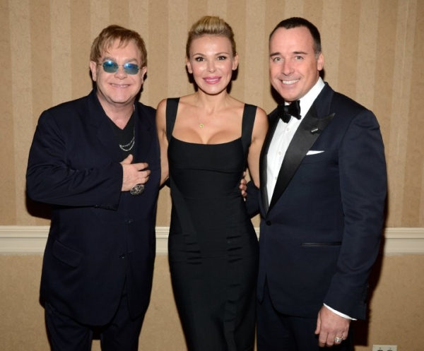 Sir Elton John, Diana Jenkins and David Furnish Photo