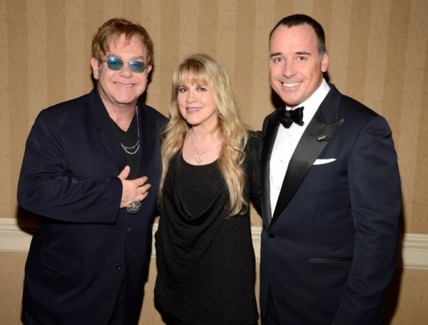 Sir Elton John, Stevie Nicks and David Furnish
