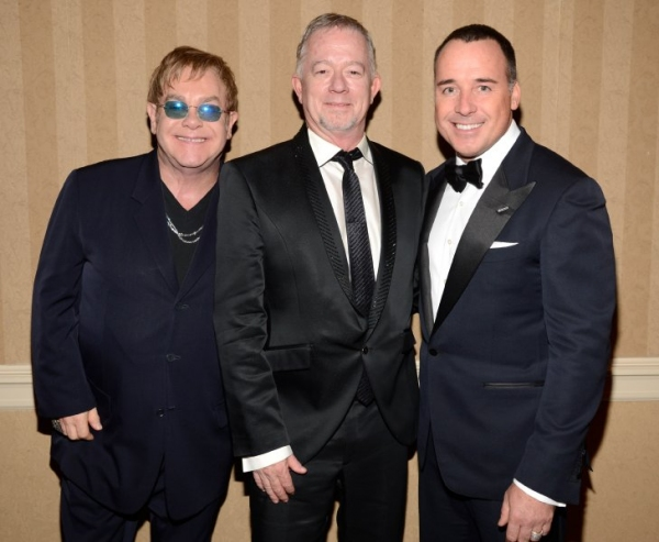 Sir Elton John, Joseph Blount and David Furnish Photo