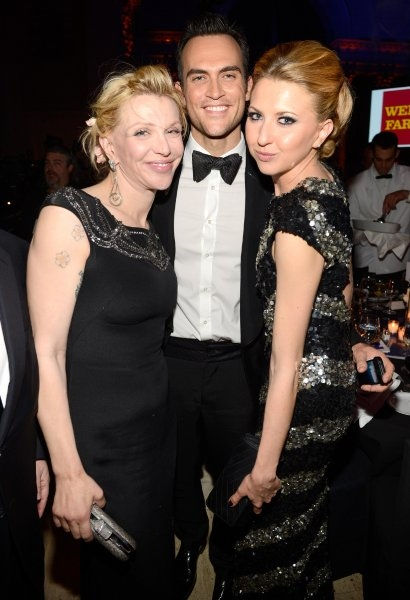 Courtney Love, Cheyenne Jackson and Nina Arianda  at Cheyenne Jackson, Alan Cumming, Nina Arianda & More at Elton John AIDS Foundation's 11th Annual AN ENDURING VISION Gala