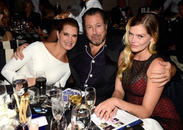 Brooke Shields, Julian Schnabel and May Anderson