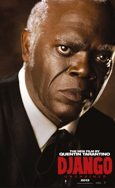 Samuel L. Jackson at Character Posters for Tarantino's DJANGO UNCHAINED Released
