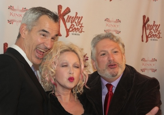 Jerry Mitchell, Cyndi Lauper and Harvey Fierstein at THIS WEEK IN PICTURES: October 13 - 19