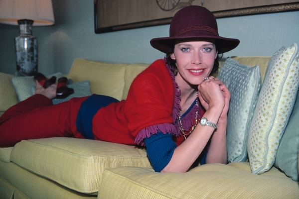 Sylvia Kristel at her New York City Hotel on May 5, 1982