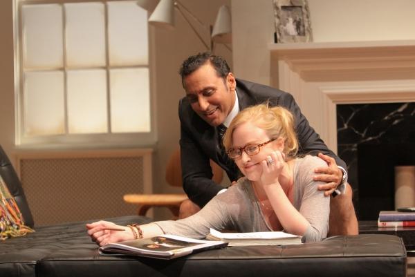 Aasif Mandvi and Heidi Armbruster