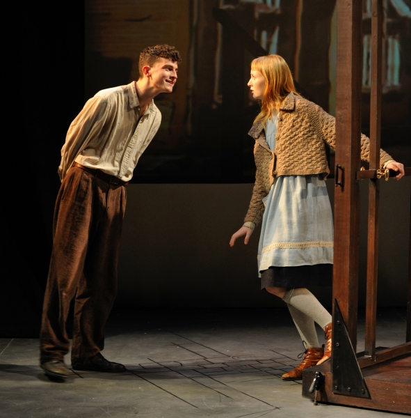 Rudy (Clancy McCartney) pays a visit to Liesel (Rae Gray)