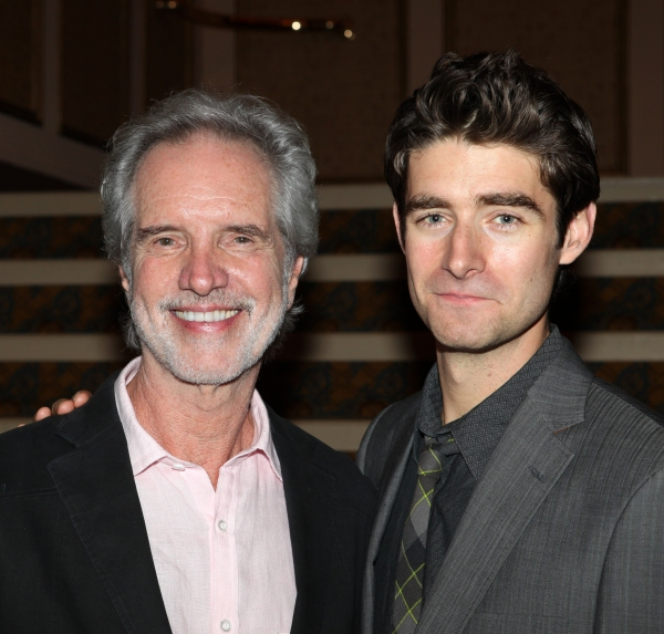 Bob Gaudio and Drew Gehling  at FRANKIE VALLI AND THE FOUR SEASONS Opening Night Reception