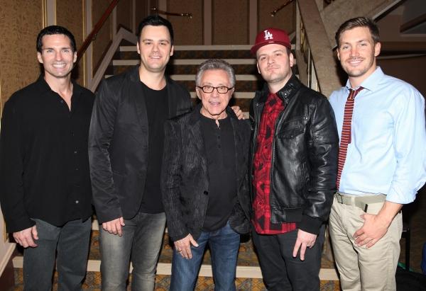 Todd Fournier, Brian Brigham, Frankie Valli, Brandon Brigham and Landon Fournier