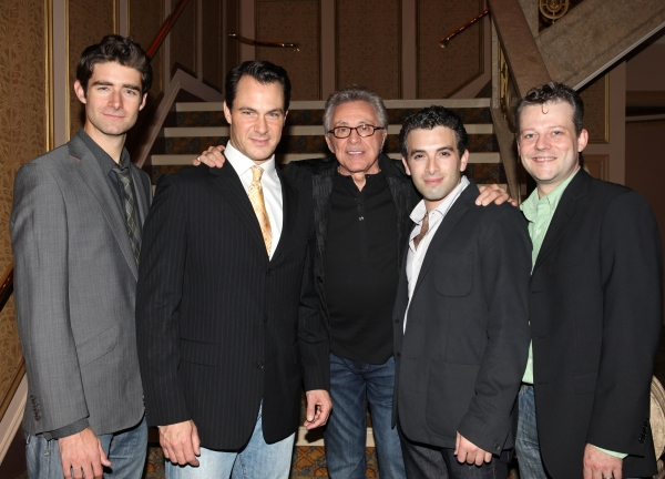 Frankie Valli with 'Jersey Boys' cast: Matt Bogart, Drew Gehling, Jarrod Spector and Jeremy Kushnier  at FRANKIE VALLI AND THE FOUR SEASONS Opening Night Reception