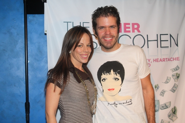 Leslie Kritzer and Perez Hilton  at David Rossmer, Steve Rosen, Ted Sperling & More at THE OTHER JOSH COHEN Opening Night!