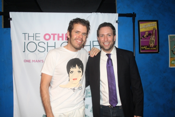 Perez Hilton and David Rossmer  at David Rossmer, Steve Rosen, Ted Sperling & More at THE OTHER JOSH COHEN Opening Night!