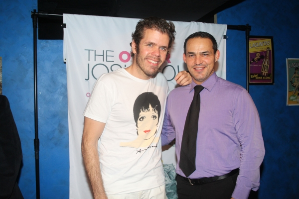 Perez Hilton and Ruben Flores  at David Rossmer, Steve Rosen, Ted Sperling & More at THE OTHER JOSH COHEN Opening Night!