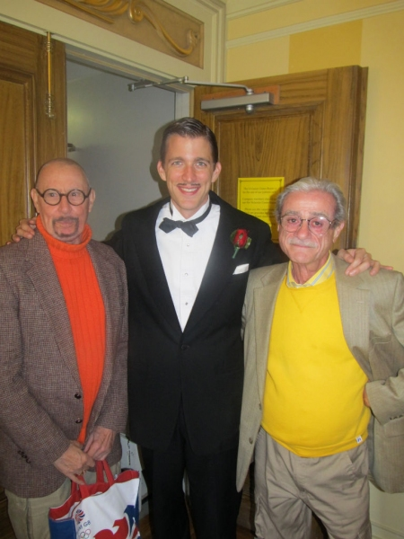Benjamin Eakley (center) pictured with writers/composers James McDonald and Robert Gerlach