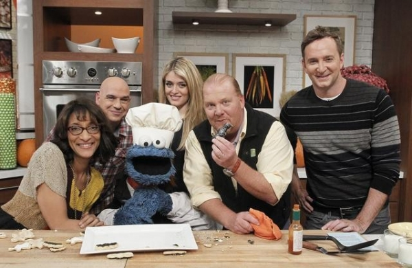 CARLA HALL. MICHAEL SYMON, COOKIE MONSTER, DAPHNE OZ, MARIO BATALI, CLINTON KELLY