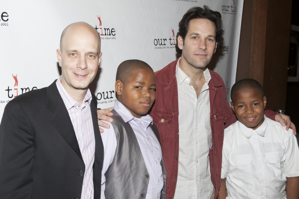 "Taro Alexander, Paul Rudd and the ""Our Time"" kids"