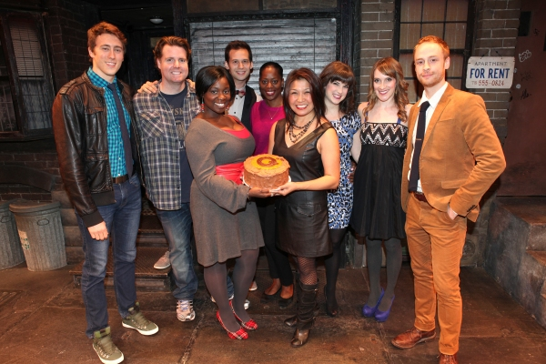 The cast of 'Avenue Q' (L to R) Darren Bluestone, Nicholas Kohn, Danielle K. Thomas, Jed Resnick, Robin S. Walker, Hazel Anne Raymundo, Veronica Kuehn, Kexy Fridell and Rob Morrison