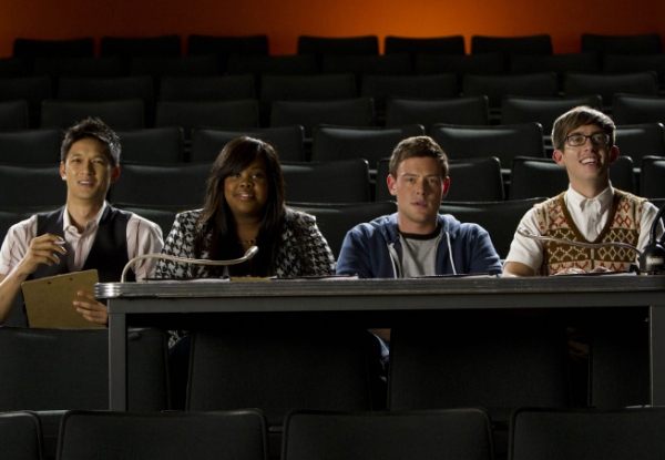 Harry Shum Jr., Amber Riley, Cory Monteith, Kevin McHale
