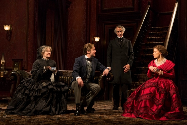 Judith Ivey, Dan Stevens, David Strathairn, Jessica Chastain at First Look at Jessica Chastain, Dan Stevens, and David Strathairn in THE HEIRESS!