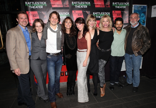 Brian Long, Sarah Cameron Sunde, McCaleb Burnett, Karen Allen, Samantha Soule, Maren Bush, Pamela Shaw, Carlo Alban and David Van Asselt at Inside Opening Night of A SUMMER DAY