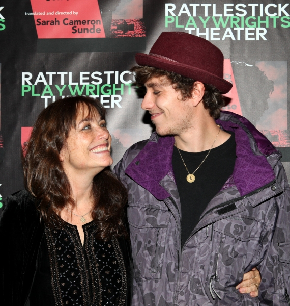 Karen Allen with her son, Nick Browne