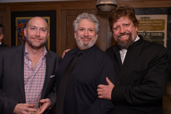 Executive Director Patrick Willingham, Harvey Fierstein, and Artistic Director Oskar Eustis  at Behind the Scenes of PERFECTLY MARVELOUS with Anne Hathaway, Eddie Redmayne, Audra McDonald, and More!