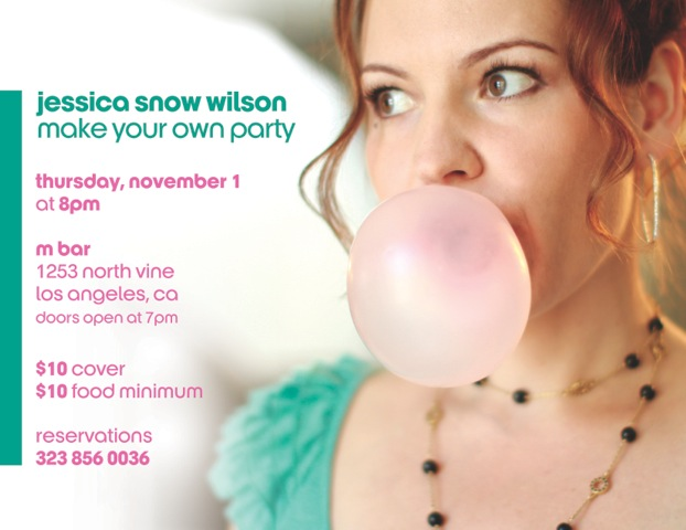 Jessica Snow Wilson Brings 'Make Your Own Party' with the Music of Heisler & Goldrich to LA 11/1