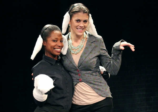 LaToya London, Silence! Cast member and Lindsay Shaw