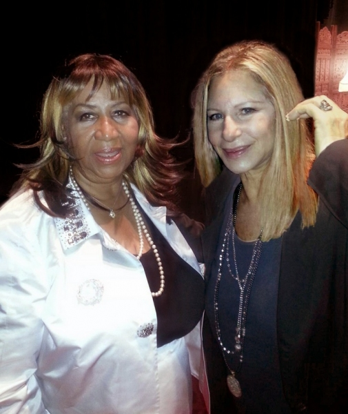 Aretha Franklin, Barbra Streisand at Barbra Streisand, Aretha Franklin Celebrate Marvin Hamlisch
