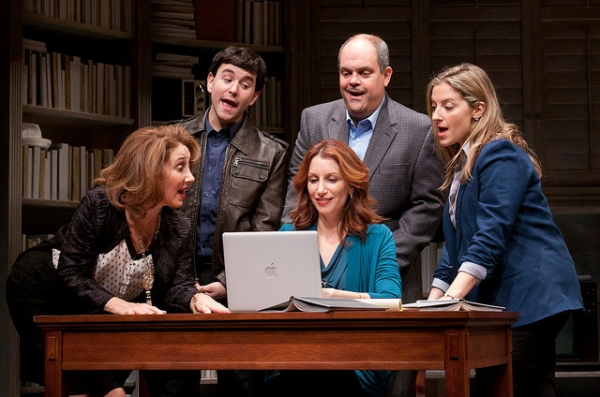 Joanna Glushak, Alex Brightman, Nancy Balbirer, Brad Oscar, and Donna Vivino
