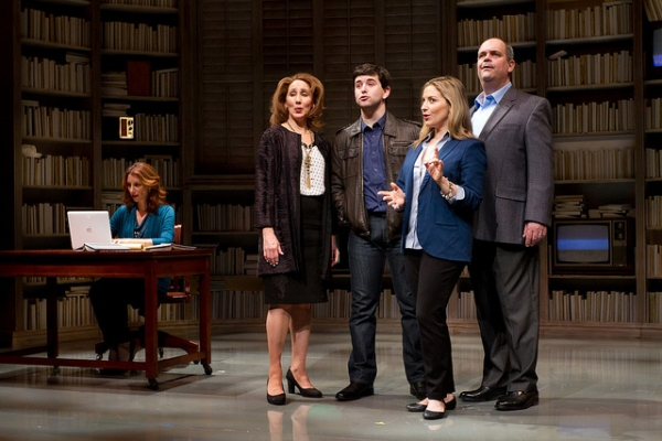 Nancy Balbirer, Joanna Glushak, Alex Brightman, Donna Vivino, and Brad Oscar