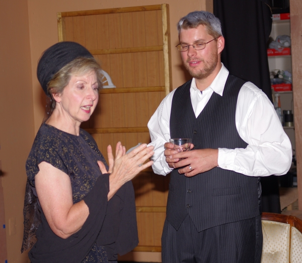 """Anne Hull as """"Mame"""" and Jason Farrell as """"Lindsey"""""""