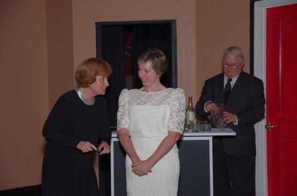 "Becky Batt as ""Doris Upson"",  Anne Hull as ""Mame"" and Dave McCrary as ""Claude Upson"""