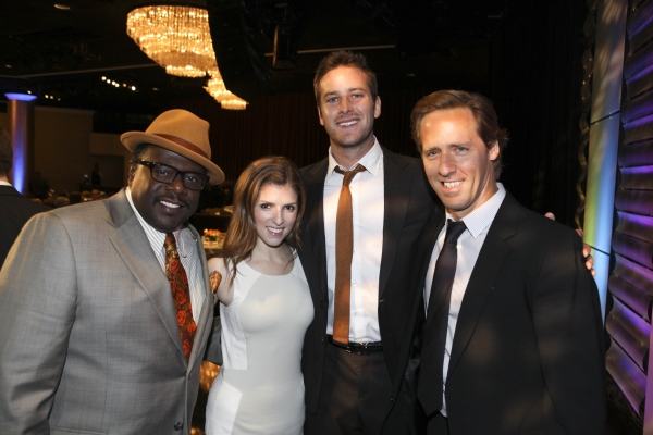 From left, actors Cedric the Entertainer, Anna Kendrick, Armie Hammer and Nat Faxon pose during the 2012 Casting Society of America Artios Awards held at the Beverly Hilton Hotel on Monday Oct. 29, 2012 in Beverly Hills, Calif. (Photo by Ryan Miller/Captu at Ben Affleck, Anna Kendrick and More Attend the 28th Annual Artios Awards