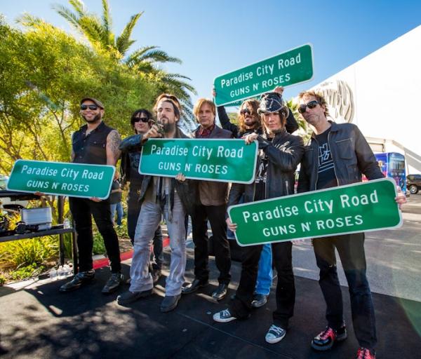 Photo Flash: Hard Rock Renames Paradise Road in Honor of GUNS N' ROSES' Residency